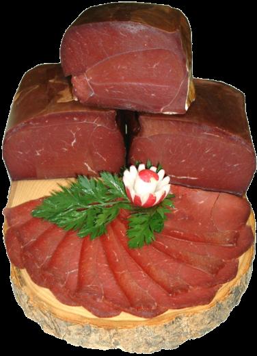 Allgäuer Premium Hirschschinken in Scheiben geschnitten