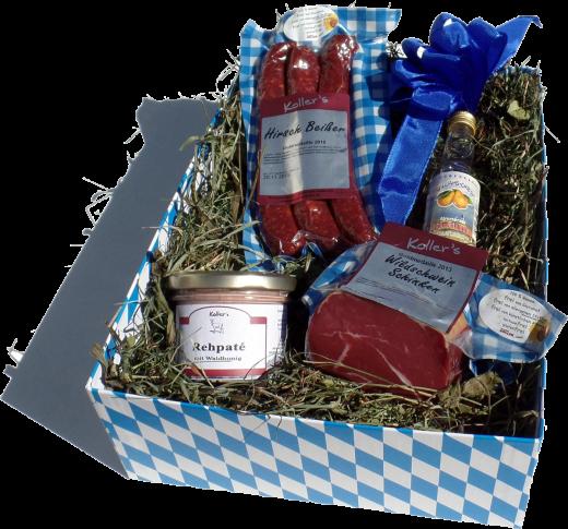 WILDBOX Geschenkkarton - Geschenkbox - Probierpaket auf Bergwiesenheu
