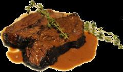 Ochsen Bäckchen in Rotweinsauce geschmort