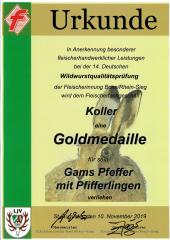 Gamspfeffer mit Pfifferlingen - 340g Glas