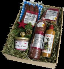 Weihnachts Geschenkkarton -large-  Weihnachtsbox auf Bergwiesenheu