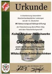 Wildschwein Schinken - Bester Wild-Rohschinken Deutschlands 2017